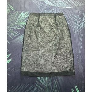 Anthropologie Double Slit Lace Pencil Skirt - 4